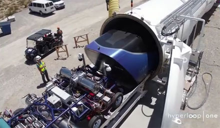 Essai de l'hyperloop en Californie